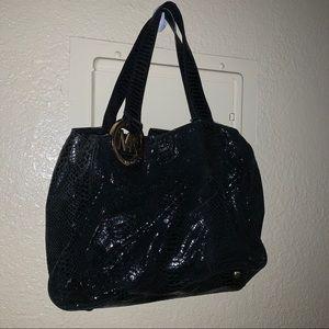 Michael Kors Black Snakeskin Pattern Handbag